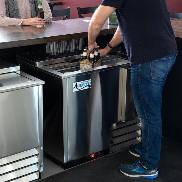 "Avantco HBB-36-HC-S 36"" Stainless Steel Horizontal Bottle Cooler"