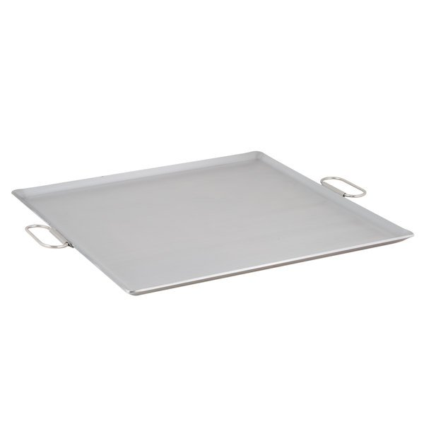 Vigor 23 inch x 23 inch Portable Steel Griddle with Fold-Down Handles