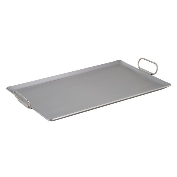 Vigor 14 inch x 23 inch Portable Steel Griddle with Fold-Down Handles