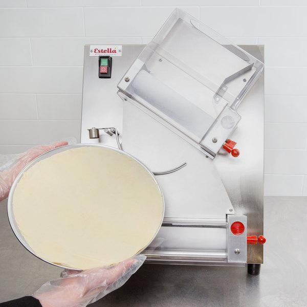 "Estella EDS12D Countertop 12"" Two Stage Dough Sheeter - 250 Pieces/Hour Main Image 6"