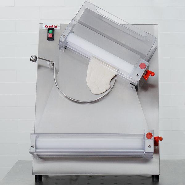 "Estella EDS18D Countertop 18"" Two Stage Dough Sheeter - 250 Pieces/Hour Main Image 5"