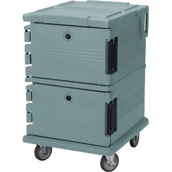 Cambro UPC1200401 Ultra Camcarts® Slate Blue Insulated Food Pan Carrier - Holds 16 Pans Main Image 1