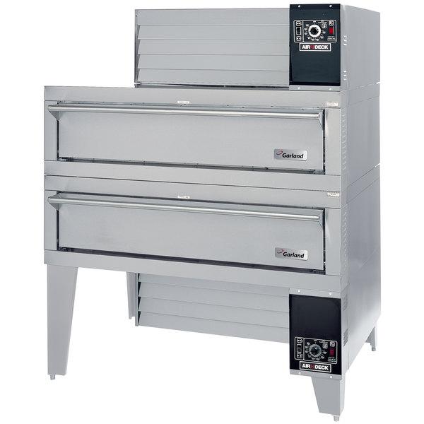 "Garland G56PT/B Natural Gas 63"" Double Air Deck Pizza Oven - 160,000 BTU Main Image 1"