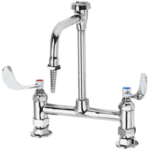 BL-5725-09CRWH4 Deck Mounted Laboratory Faucet with 8\