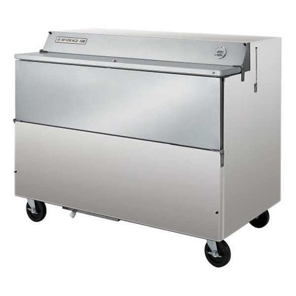 """Beverage-Air SMF58-S 58"""" Stainless Steel 1-Sided Forced Air Milk Cooler"""