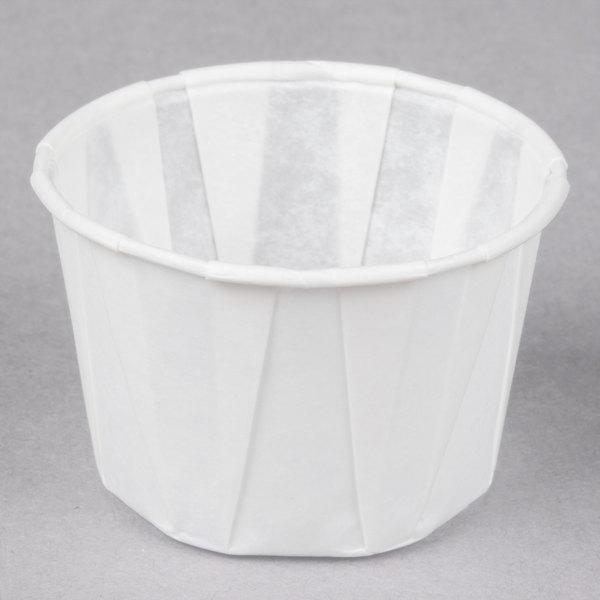 Genpak F125 1.25 oz. Harvest Paper Souffle / Portion Cup - 250/Pack