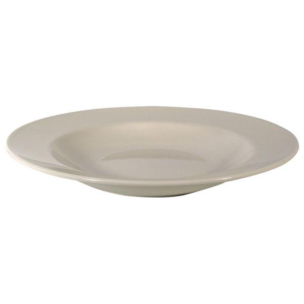 Homer Laughlin 44200 Unique Venetian 24 oz. Ivory (American White) China Pasta Bowl - 12/Case