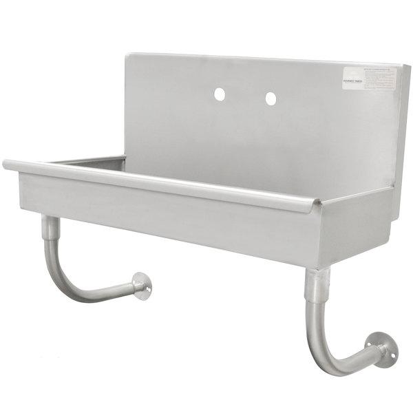 "Advance Tabco 19-18-1-ADA 16-Gauge ADA Single-Station Hand Sink with 5"" Deep Bowl - 40"" x 17 1/2"" Main Image 1"