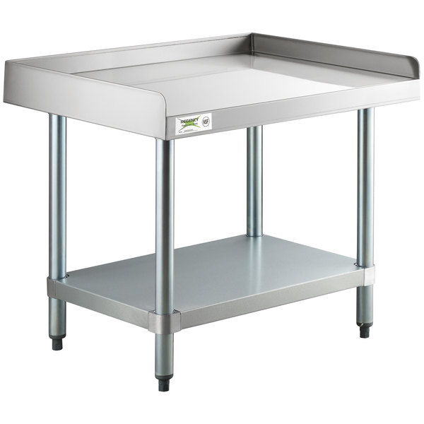 Commercial Stainless Steel Rolling Work Equipment Grill Stand 30x36 with Wheels