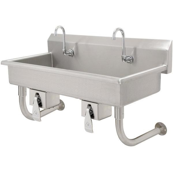 Advance Tabco Fc Wm 80kv 16 Gauge Multi Station Hand Sink
