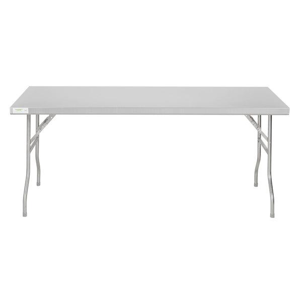 Regency 30 X 72 18 Gauge Stainless Steel Open Base Folding Work Table