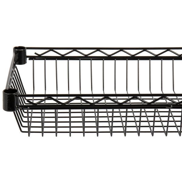 "Regency 14"" x 36"" NSF Black Epoxy Shelf Basket Main Image 1"