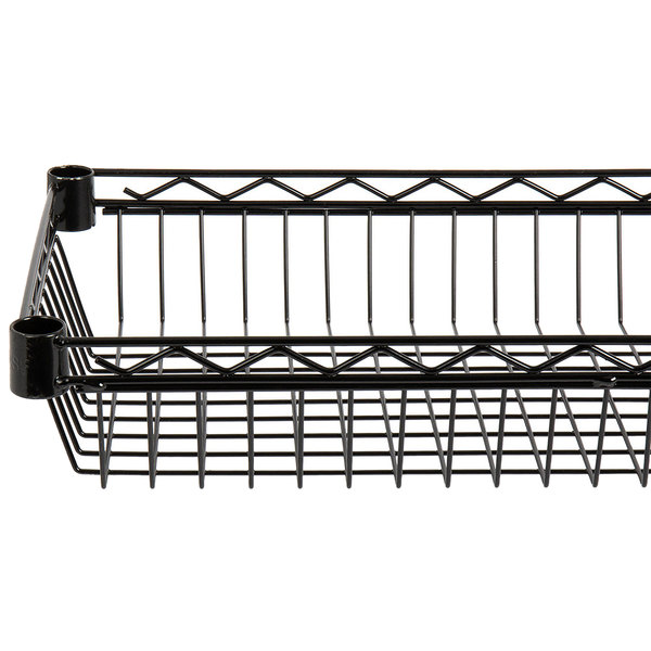 "Regency 18"" x 24"" NSF Black Epoxy Shelf Basket Main Image 1"