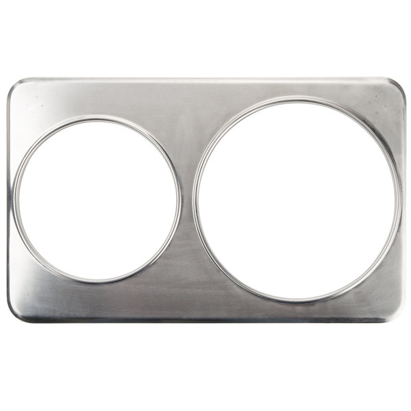 """2 Hole Steam Table Adapter Plate - 8 3/8"""" and 10 3/8"""""""