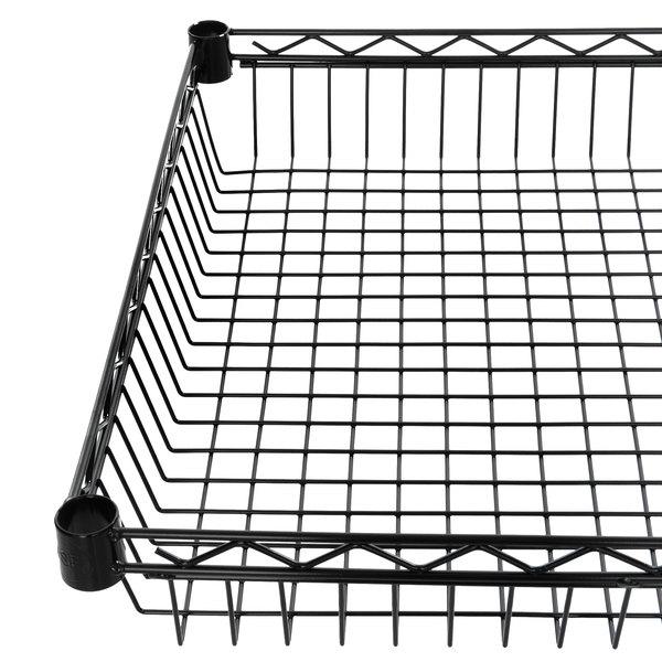 "Regency 24"" x 24"" NSF Black Epoxy Shelf Basket Main Image 1"