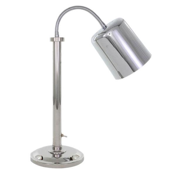 Hanson Heat Lamps SLM/700/ST/CH Single Bulb Flexible Freestanding Streamlined Heat Lamp with Chrome Finish - 115/230V Main Image 1