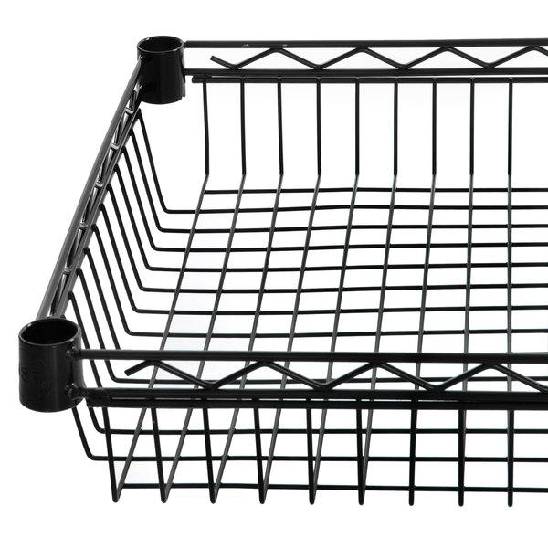 "Regency 18"" x 48"" NSF Black Epoxy Shelf Basket Main Image 1"