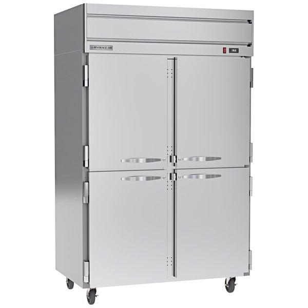 "Beverage-Air HR2-1HS Horizon Series 52"" Top Mounted Solid Half Door Reach-In Refrigerator Main Image 1"
