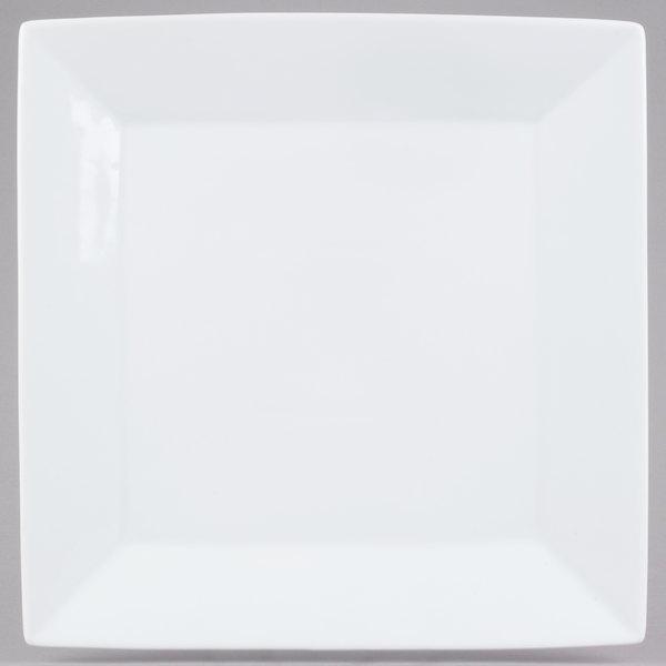 Core 12 inch Bright White Square China Plate  - 6/Case