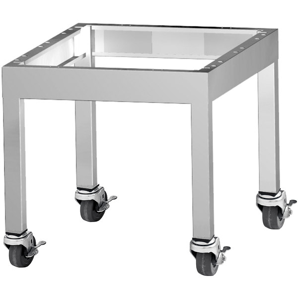 """Garland G24-BRL-STD G Series 24"""" Range Match Charbroiler Stand with Casters Main Image 1"""