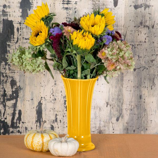 Homer Laughlin 491342 Fiesta Daffodil 9 58 Medium China Vase 4case