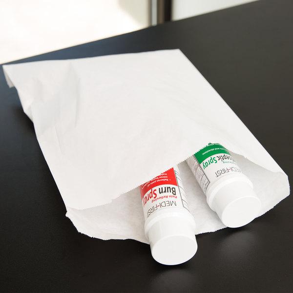 "Duro 12"" x 15"" White Merchandise Bag - 1000/Bundle"