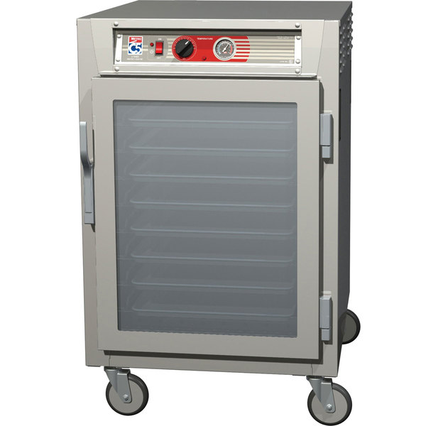 Metro C565-SFC-LPFC C5 6 Series Half-Height Reach-In Pass-Through Heated Holding Cabinet - Clear Doors Main Image 1