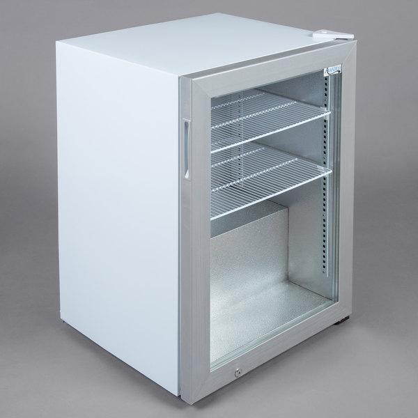 Avantco CFM3 White Countertop Display Freezer with Swing Door