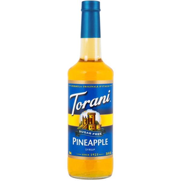 Torani 750 mL Sugar Free Pineapple Flavoring Syrup