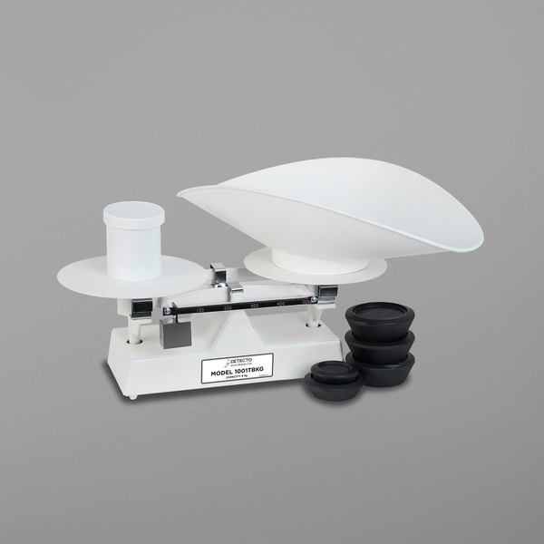 Cardinal Detecto 1001TBKG 8 kg Baked Enamel Baker's Dough Scale with Scoop - 500 g x 5 g Beam Grads Main Image 1