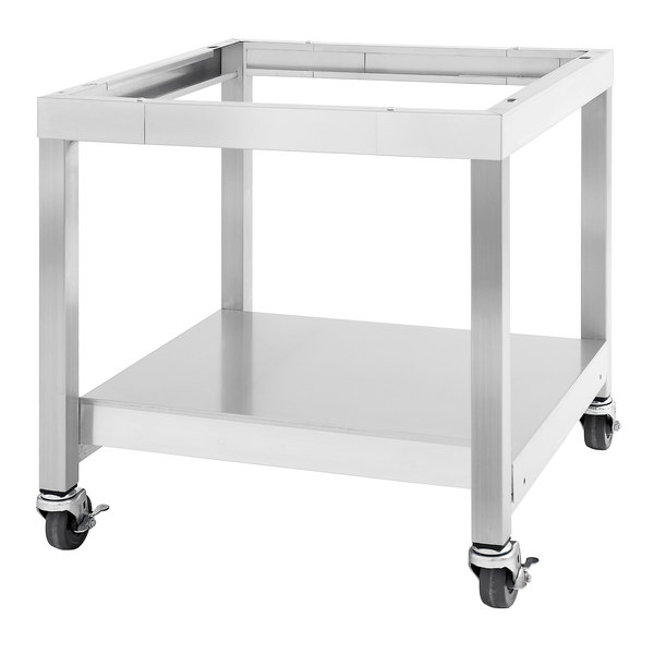 """Garland SS-CS24-24 28 15/16"""" x 24"""" Mobile Stainless Steel Equipment Stand with Casters Main Image 1"""