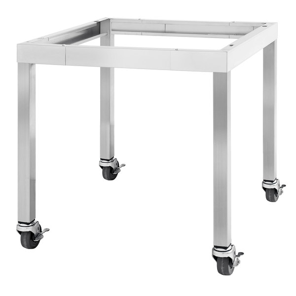 "Garland SS-CS24-60 28 15/16"" x 60"" Mobile Stainless Steel Equipment Stand with Casters Main Image 1"