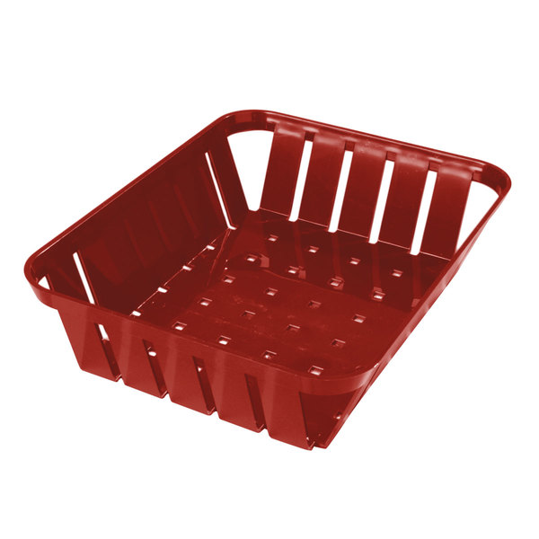 "Carlisle 4403105 Stackable Red Munchie Basket 10 3/8"" x 8"" - 12/Case"