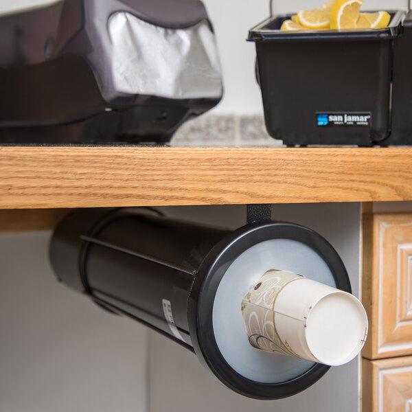 San Jamar C2410SM EZ-Fit Surface Mount 8 - 46 oz. Cup Dispenser Main Image 5
