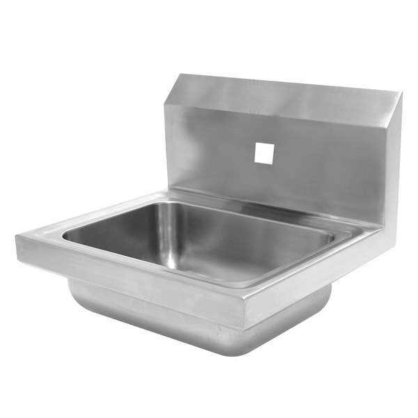 """Advance Tabco 7-PS-71-EC 17"""" x 15 1/4"""" Wall Mounted Hand Sink for 1 Faucet Main Image 1"""
