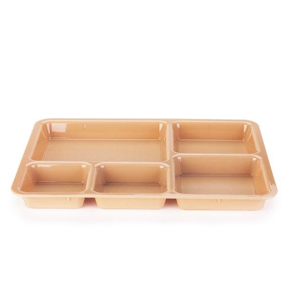 "Cambro 1411CW133 14 3/8"" x 10 9/16"" Camwear Beige Tray on Tray Base Tray - 24/Case"