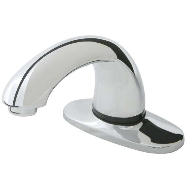 """Rubbermaid 1903286 Milano Chrome Single Hole Deck Mounted Hands-Free Faucet with 3 3/4"""" Spout and Mixing Valve"""