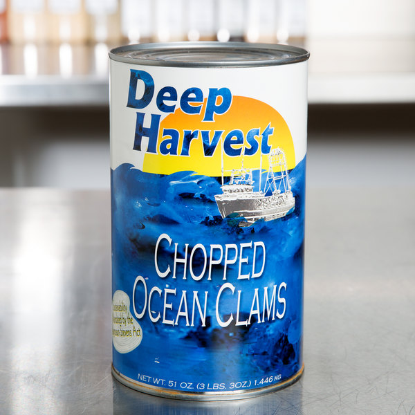 51 oz. Chopped Ocean Clams - 12/Case