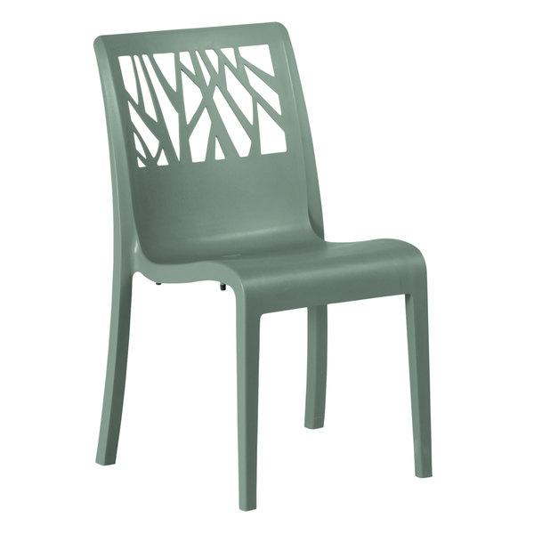 Case of 16 Grosfillex US116721 Vegetal Sage Stacking Side Chair