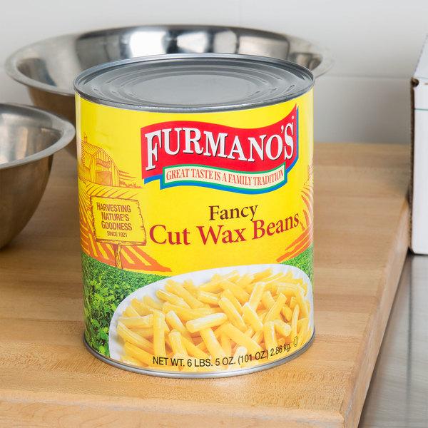 Furmano's #10 Can Fancy Cut Wax Beans - 6/Case Main Image 4