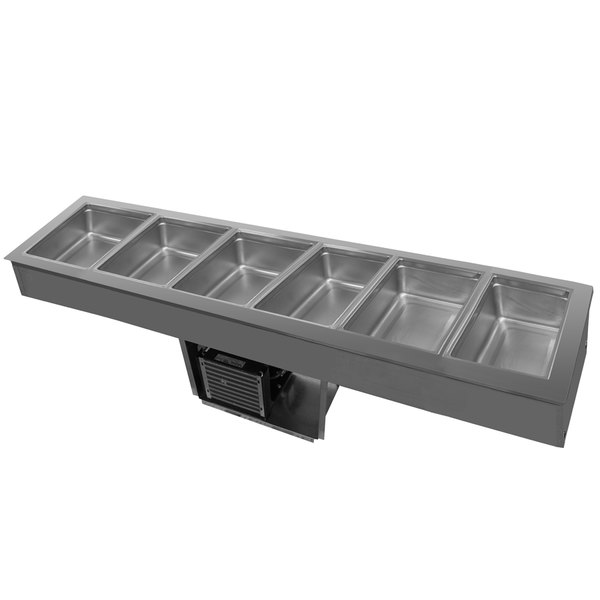Delfield 8186-EF Six Pan Drop In LiquiTec Cooled Cold Food Well
