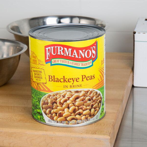 Furmano's #10 Can Black Eye Peas - 6/Case Main Image 2