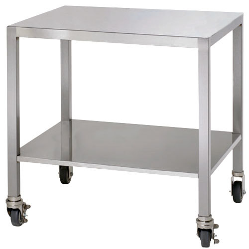 Alto-Shaam 5004672 Stainless Steel Stationary Stand with Bullet Feet for ASC-2E and ASC-2E/E Convection Ovens - 26 1/2""
