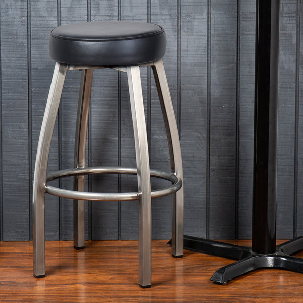 Incredible Lancaster Table Seating Clear Coat Backless Barstool With Black Swivel Upholstered Seat Gmtry Best Dining Table And Chair Ideas Images Gmtryco