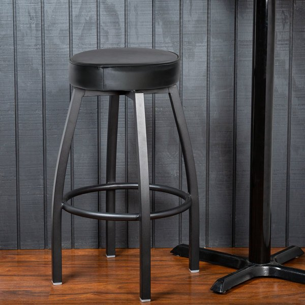 Pleasant Lancaster Table Seating Black Backless Barstool With Black Swivel Upholstered Seat Gmtry Best Dining Table And Chair Ideas Images Gmtryco
