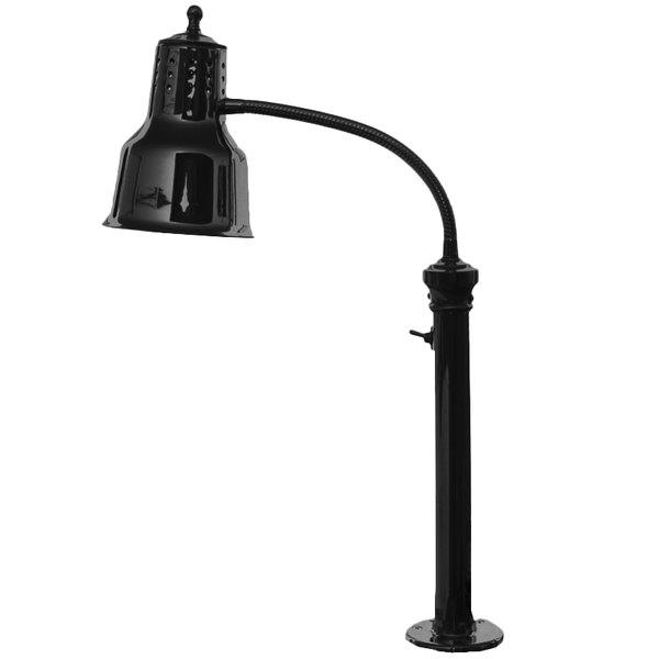 Hanson Heat Lamps ESL/FM/B Single Bulb Flexible Mounted Heat Lamp with Black Finish - 115/230V Main Image 1