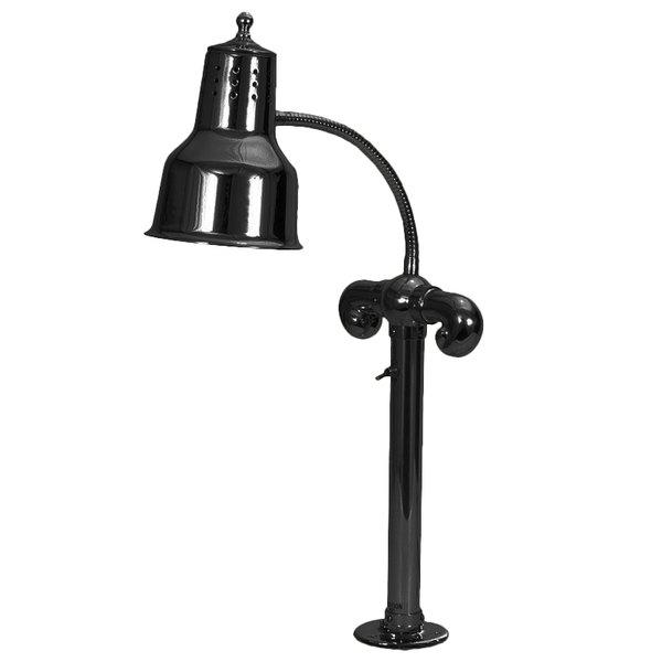 Hanson Heat Lamps SL/FM/B Single Bulb Flexible Mounted Heat Lamp with Black Finish - 115/230V Main Image 1