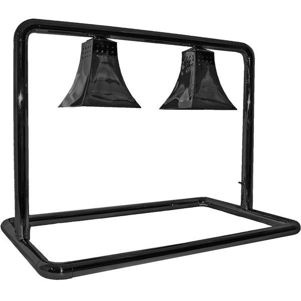 Hanson Heat Lamps MGM/500/CUSTOM/B Dual Bulb Freestanding Food Warmer with Royal Shades and Black Finish - 120V Main Image 1