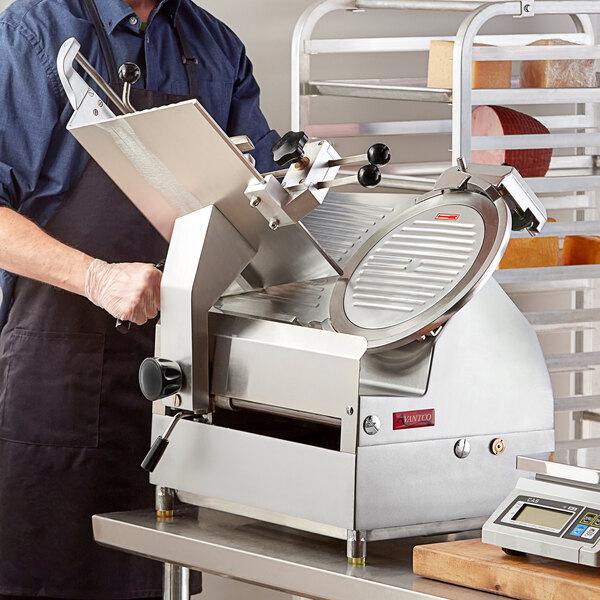 "Avantco SL612A 12"" Medium-Duty Automatic Meat Slicer with Manual Use Option - 1/2 hp Main Image 4"