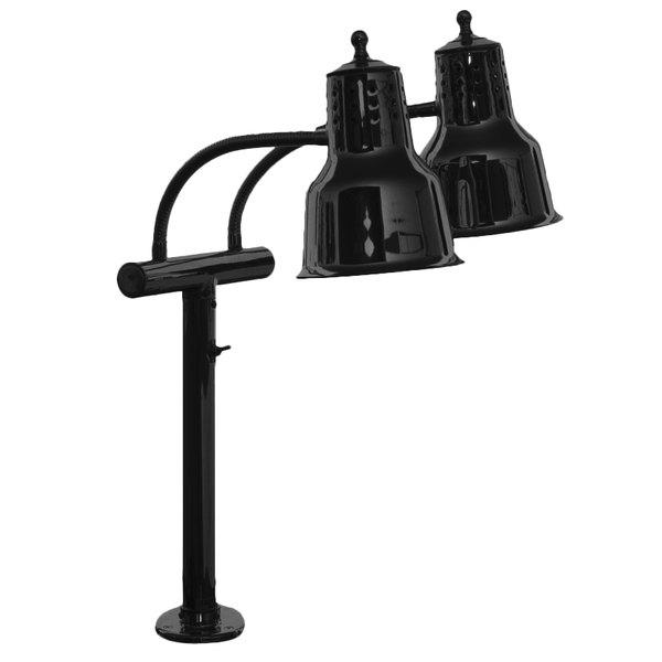 Hanson Heat Lamps EDL/FM/B Dual Bulb Flexible Mounted Heat Lamp with Black Finish - 115/230V Main Image 1